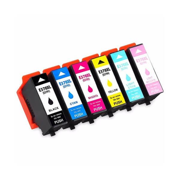 Druckerpatronen Set wie Epson 378 XL Black, Cyan, Magenta, Yellow, Light-Cyan, Light-Magenta
