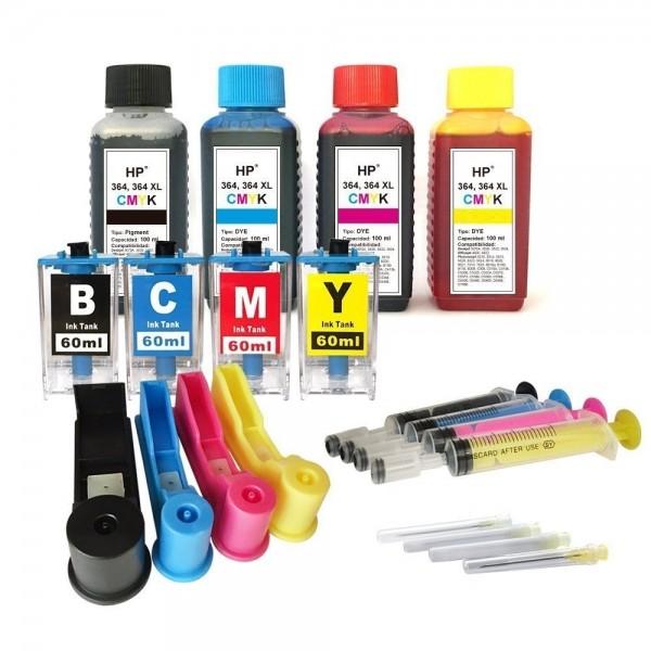 Easy Refill Befülladapter + Nachfüllset für HP 364 (XL) black, cyan, magenta, yellow Patronen