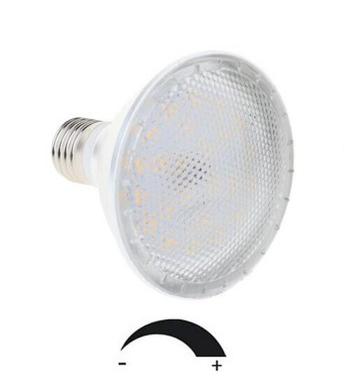 12 Watt PAR 30 LED Lampe E27 - Lichtfarbe warmweiß 2700 K, dimmbar - 120° Ausstrahlung