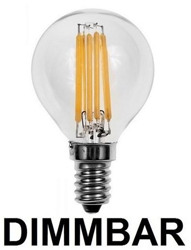 6 Watt Faden / Filament LED Lampe / Birne, E14, Warmweiß 2700 K ...