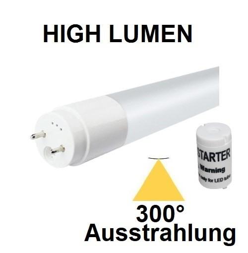 120 cm LED-Röhre T8 - G13, 18 Watt, 300° Ausstrahlung, Lichtfarbe Tageslichtweiß 6000K