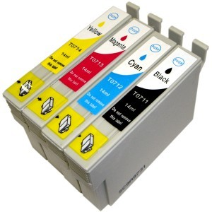 Druckerpatronen Set wie Epson T0715 XL - T0711, T0712, T0713, T0714