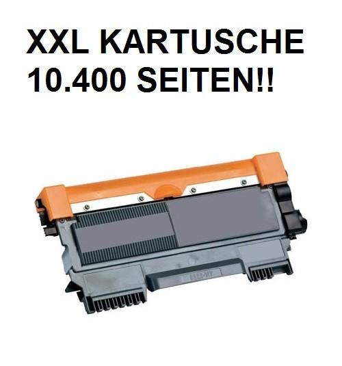XXL Tonerkartusche wie Brother TN-2220 schwarz - 4-fache Kapazität für 10.400 Seiten