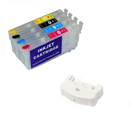 Wiederbefüllbare Patronen wie Epson 405 XL OHNE CHIPS + Chipresetter
