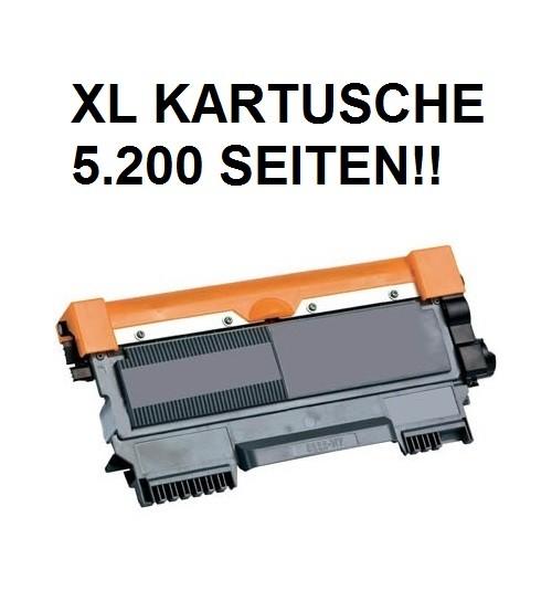 XL Tonerkartusche wie Brother TN-2220 black, schwarz - doppelte Kapazität für 5.200 Seiten