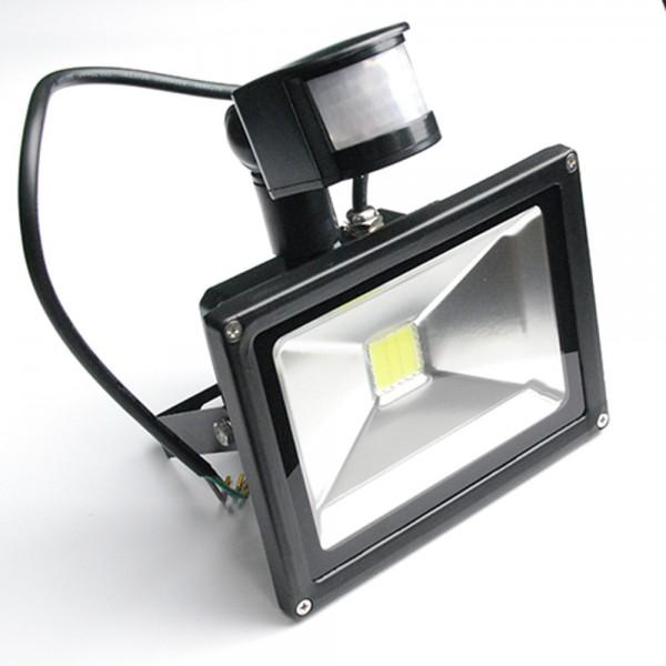 20 Watt LED Außenstrahler - Flutlicht mit einstellbarem Bewegungssensor