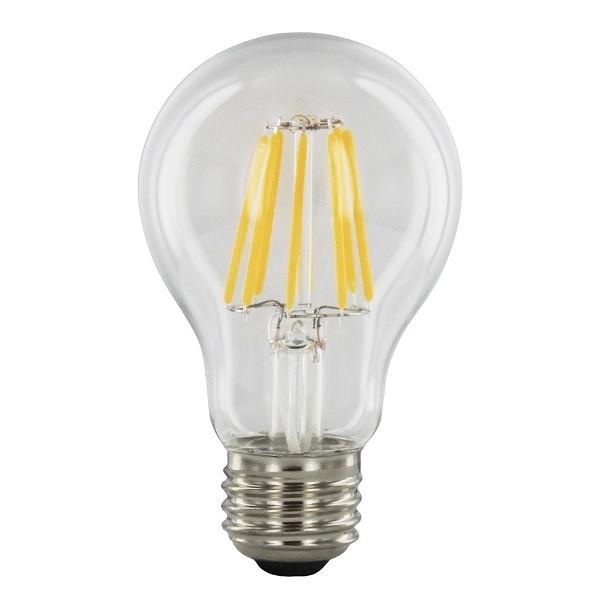 SONDERPREIS! 8 Watt Faden Filament LED Lampe, Birne, E27, Lichtfarbe warmweiß 2700 K, KLARGLAS