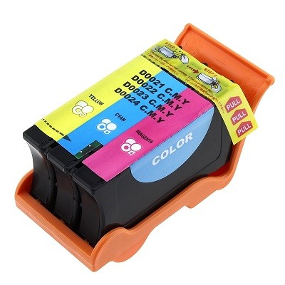 Druckerpatrone wie Dell 21 - 592-11333, 592-11317, Y499D, X740N color, dreifarbig