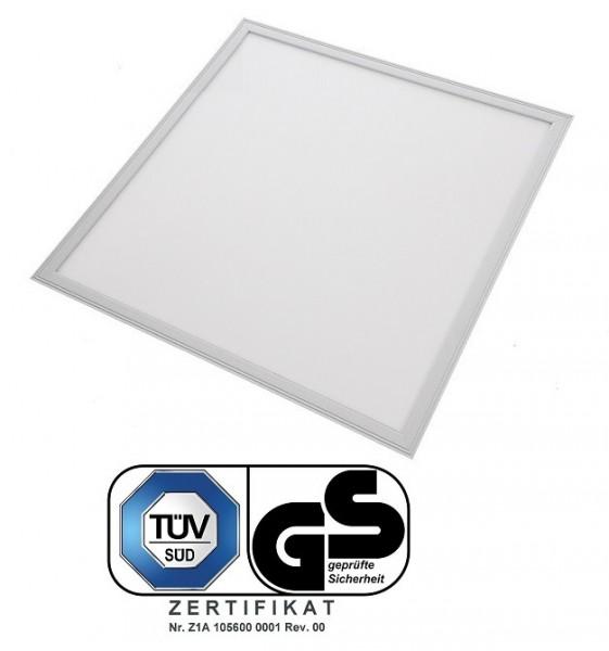 TÜV SÜD, GS geprüft - 40 Watt LED Panel, 62 x 62 cm, Lichtfarbe Tageslichtweiß 6000K, Rahmen Weiss