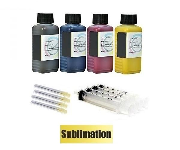 4 x 100 ml Sublimationstinte black, cyan, magenta, yellow - für Epson, Ricoh