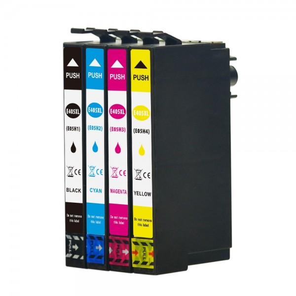 Druckerpatronen Set wie Epson 405 XL Black, Cyan, Magenta, Yellow - XL Füllmenge