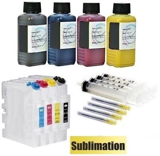 Wiederbefüllbare QUICKFILL-FILL-IN Patronen Ricoh GC-21 + 400 ml Sublimationstinten