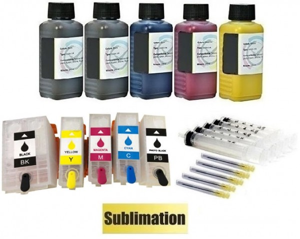 Wiederbefüllbare QUICKFILL-FILL-IN Patronen wie Epson 202, 202 XL + 500 ml Sublimationstinte