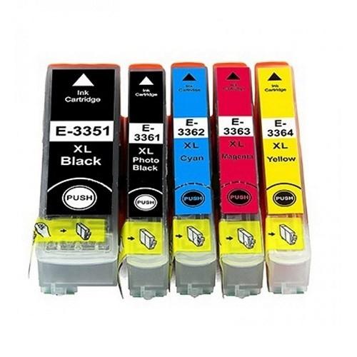 Druckerpatronen Set wie Epson T3351 & T3361, T3362, T3363, T3364, T33 XL - T3337, T3357