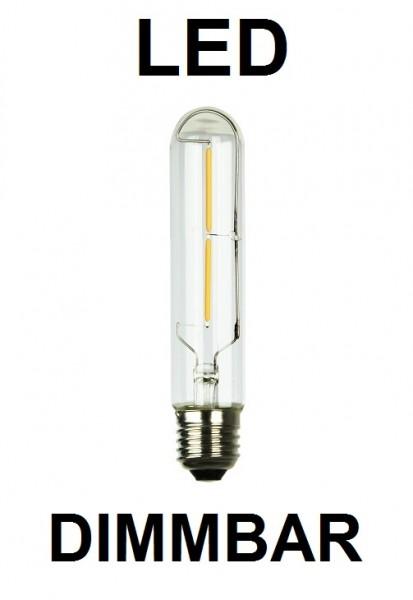2 Watt Faden Filament LED-Lampe E27 - T30 - 128 mm Länge, Lichtfarbe warmweiß, dimmbar