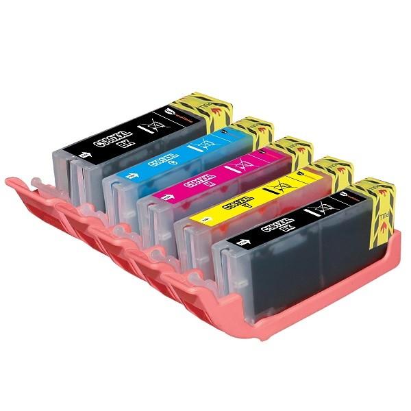 Kompatibles Druckerpatronen-Set Canon PGI-580 & CLI-581 black cyan magenta yellow - 5 Patronen