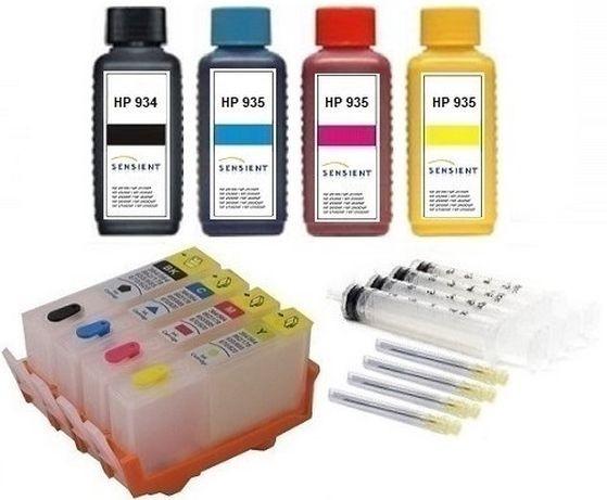 Wiederbefüllbare QUICKFILL-FILL-IN Patronen HP 934 & 935 XL + 400 ml SENSIENT Tinten