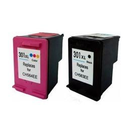 Refill Druckerpatronen Set HP 301 XL black & color - HP CH563EE + HP CH564EE