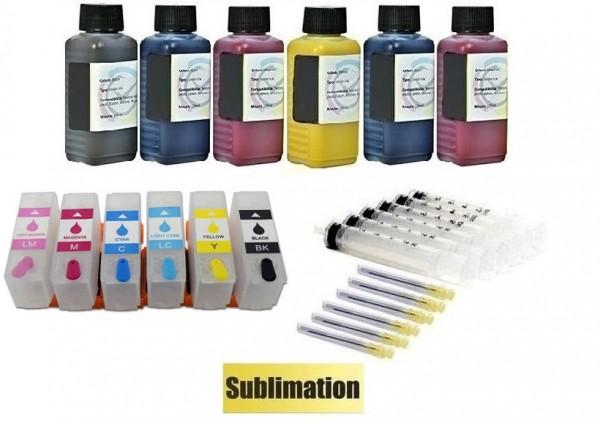 Wiederbefüllbare QUICKFILL-FILL-IN Patronen wie Epson 378, 378 XL + 600 ml Sublimationstinte