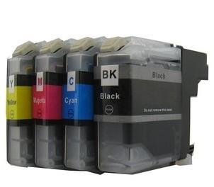 Druckerpatronen Set wie Brother LC-121, LC-123 black, cyan, magenta, yellow XL