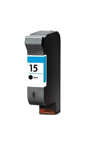 Refill Druckerpatrone HP 15 schwarz, black - C6615DE
