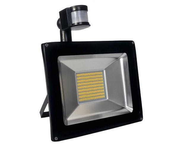 100 Watt LED Außenstrahler - Flutlicht mit einstellbarem Bewegungssensor