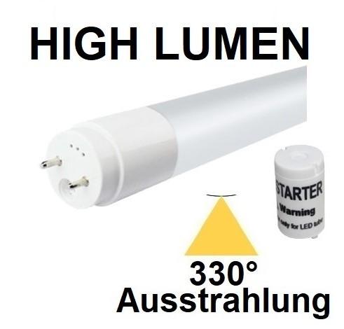 Mit TÜV + GS - 150 cm LED-Röhre T8 - G13, 22 Watt, 330° Ausstrahlung, Neutralweiß 4000K