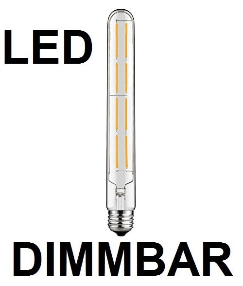 8 Watt Faden Filament LED-Lampe T30 - E27 - 300 mm Länge, Lichtfarbe warmweiß, dimmbar