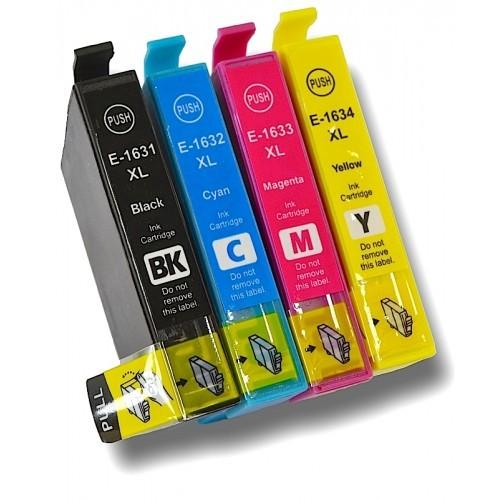 Kompatibles Druckerpatronen-Set Epson T1631, T1632, T1633, T1634, T16 XL, T1636