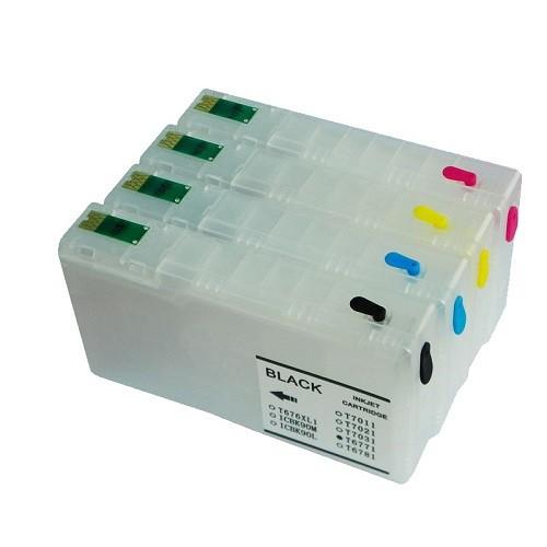 Wiederbefüllbare QUICKFILL-FILL-IN Patronen wie Epson T7911-T7914 mit Auto Reset Chips