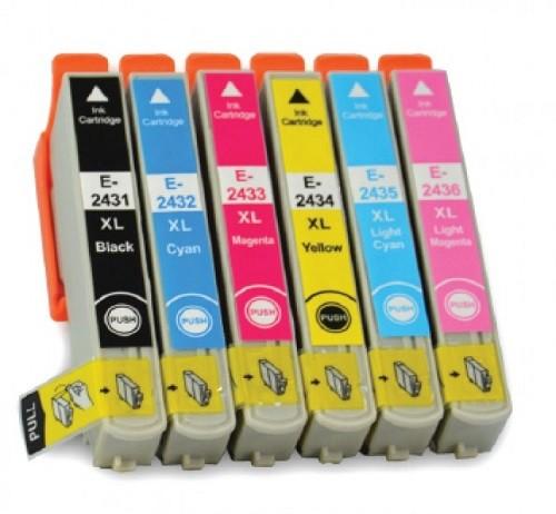 Druckerpatronen Set wie Epson T2431, T2432, T2433, T2434, T2435, T2436, T24 XL, T2438