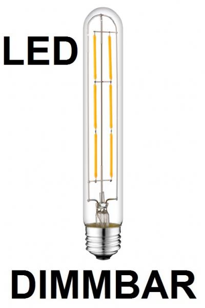 6 Watt Faden Filament LED-Lampe T30 - E27 - 185 mm Länge, Lichtfarbe warmweiß, dimmbar
