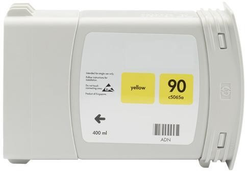 Refill Druckerpatrone HP 90 XL yellow C5065A