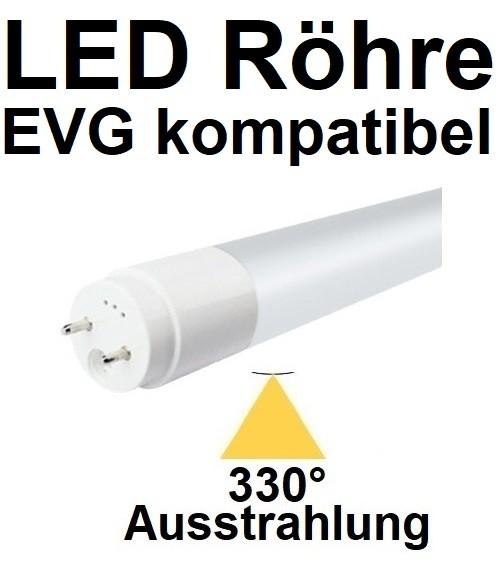 Mit TÜV, für EVG - 60 cm LED-Röhre T8 - G13, 10 Watt, 330° Ausstrahlung, Neutralweiß 4000K