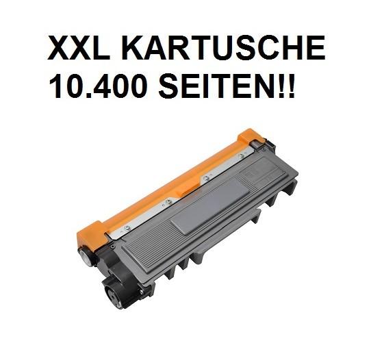 XXL Tonerkartusche wie Brother TN-2320 schwarz - 4-fache Kapazität für 10.400 Seiten