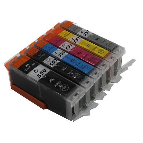 Druckerpatronen Set wie Canon PGI-550 XL & CLI-551 XL black, cyan, magenta, yellow, grey - 6 Patrone