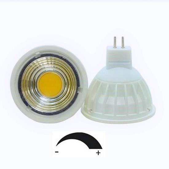 5 Watt COB LED-Spot MR16 - GU5.3 Weiß, Lichtfarbe warmweiß 2700 K, dimmbar - 90° Ausstrahlung