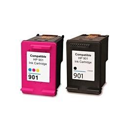 Refill Druckerpatronen Set HP 901 XL black & color - HP CC654AE + HP CC656AE