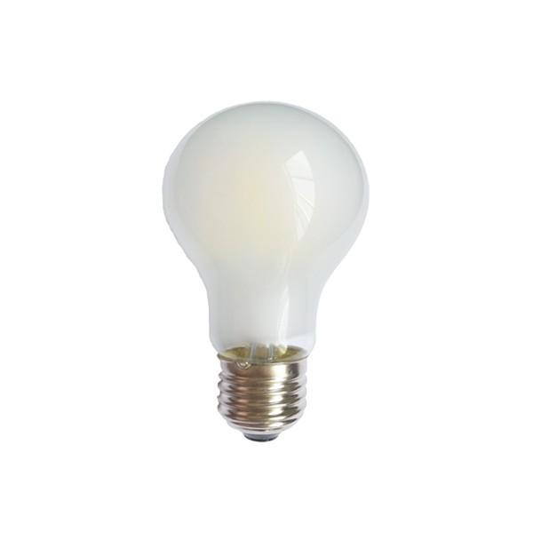 SONDERPREIS! 6 Watt Faden Filament LED Lampe, Birne, E27, Lichtfarbe warmweiß 2700 K, Milchglas