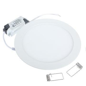 12 Watt LED Panel, 17 cm Durchmesser, Lichtfarbe warmweiß, Rahmen Weiss