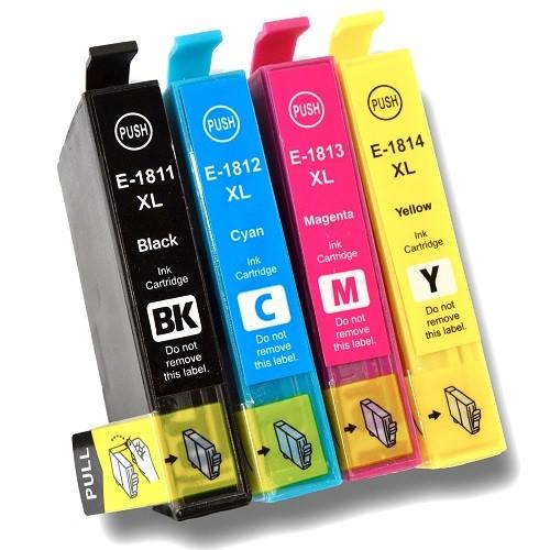 Kompatibles Druckerpatronen-Set Epson T1811, T1812, T1813, T1814, T18 XL, T1816