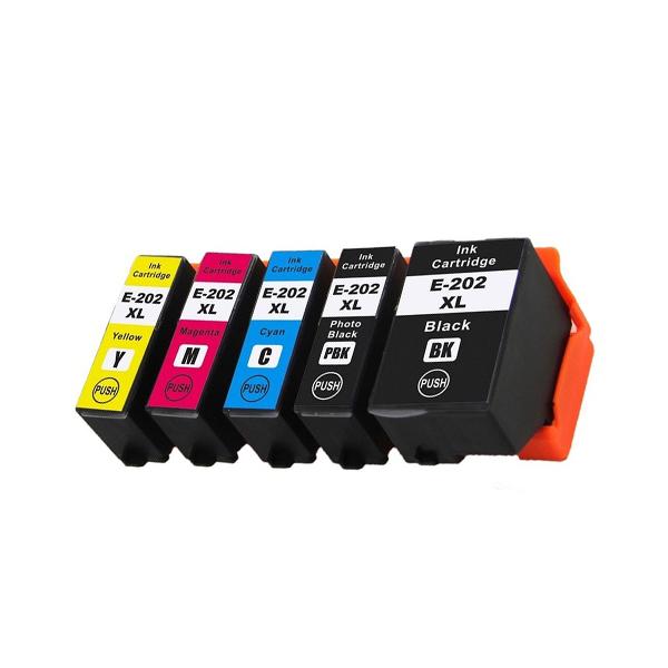 Druckerpatronen Set wie Epson 202 XL Black, Cyan, Magenta, Yellow, Photo-Black