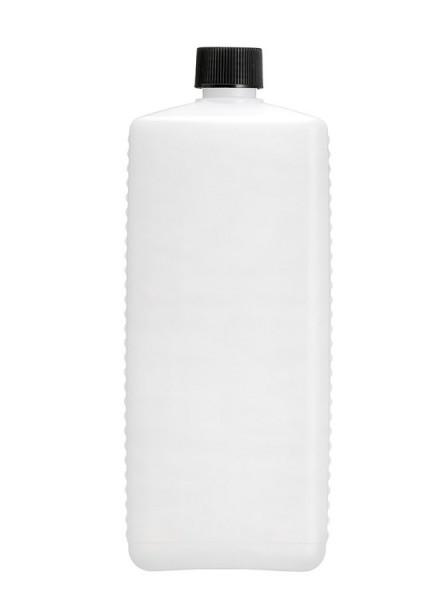 Leere 1 Liter HDPE Vierkantflasche inkl. schwarzem Verschluss - 1 Stück