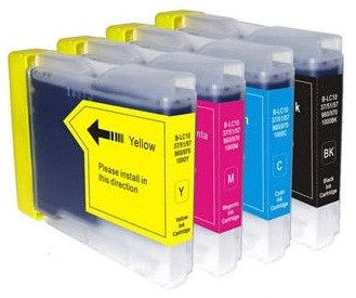 Kompatibles Druckerpatronen-Set Brother LC-970, LC-1000 black, cyan, magenta, yellow XL
