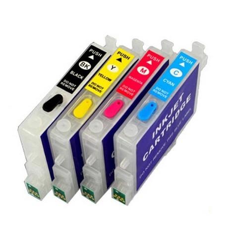 Wiederbefüllbare QUICKFILL-FILL-IN Patronen wie Epson T0551-T0554 mit Auto Reset Chips