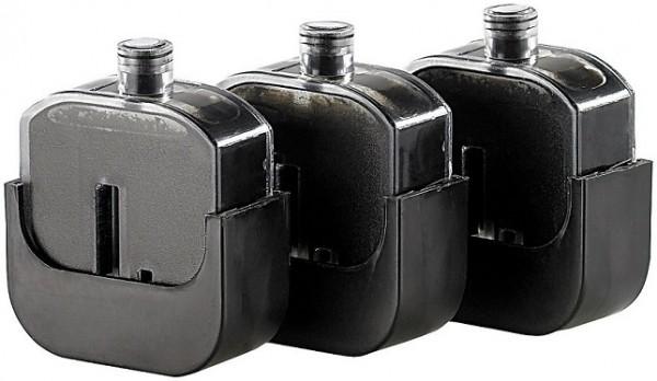3 Nachfülltinten-Tanks für Easy Refill Befülladapter HP 300 black